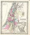 1855 Colton Map of Israel, Palestine or the Holy Land - Geographicus - PalestineIsrael-colton-1855.jpg