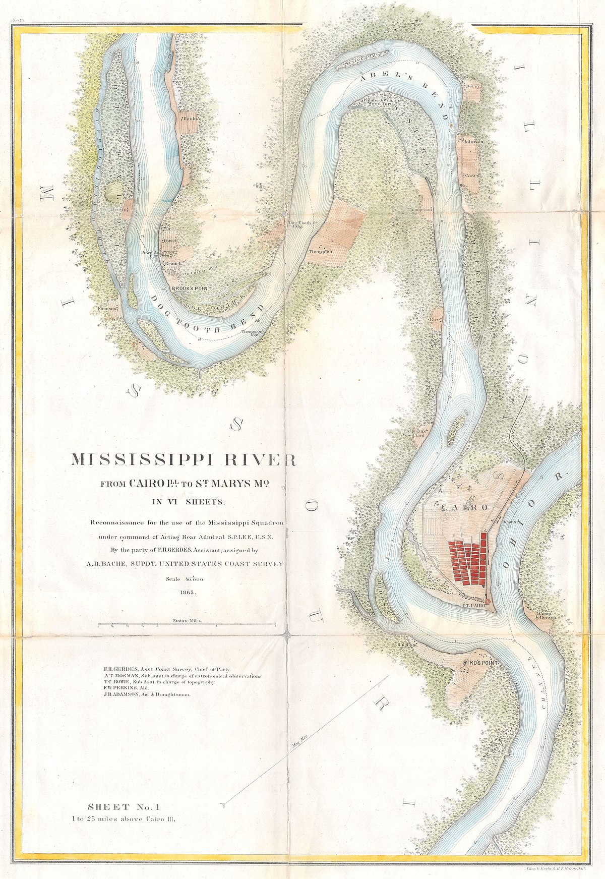 File:1865 U.S.C.S. Map of the Mississippi River From Cairo ...