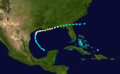 1877 Atlantic hurricane 2 track.png