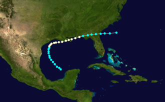 1877 Atlantic hurricane season - Image: 1877 Atlantic hurricane 2 track