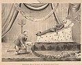 1878 circa Bernhard Lenzesky Lithographie Kronprinz Ernst August beweint König Georg V. von Hannover.jpg