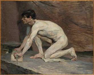 Henri de Toulouse-Lautrec - The Marble Polisher, 1882–87, Princeton University Art Museum, probably painted while a student of Fernand Cormon, demonstrating his classical training