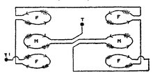 1911 Britannica - Connexions of Kelvin Ampere Balance.png