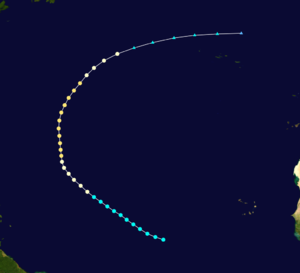 1920 Atlantic hurricane season - Image: 1920 Atlantic hurricane 1 track