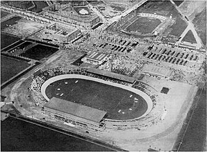 Old Stadion (Amsterdam) - Finished Olympic Stadium with the Old Stadion in the background