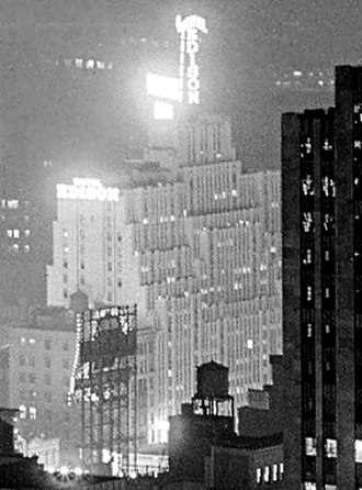Hotel Edison - The hotel as seen from 515 Madison Avenue, 1933