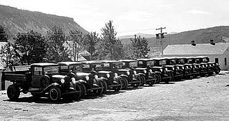 1933 in the United States - 1933: 12 new Chevrolet pickup trucks for the Civilian Conservation Corps, Yellowstone National Park.