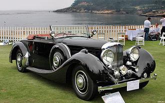 Carlton Carriage Company - 1938 Bentley 4¼ Litre with Carlton Drophead Coupe coachwork. Pebble Beach Concours d'Elegance, 2009