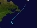 1939 Atlantic tropical storm 3 track.png
