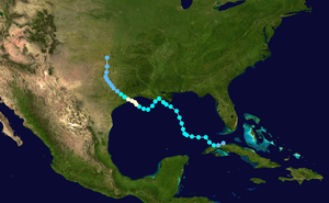 1947 Atlantic hurricane season - Image: 1947 Atlantic hurricane 3 track