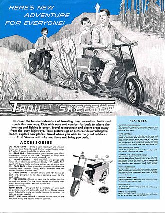 "Tote Gote - The advertisement for the ""Trail Skeeter"""