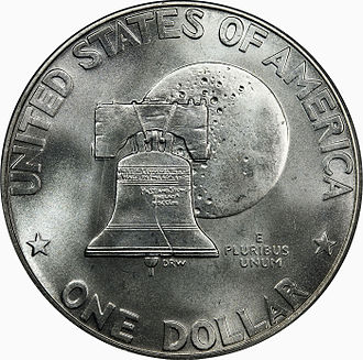 Dollar coin (United States) - 1975/1976 Bicentennial Commemorative coin (reverse).