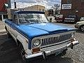 1978 Jeep J-10 pickup truck, 131-inch wb, 6200 lbs GVW, 258 CID six automatic blue-white 02.jpg