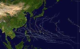 1987 Pacific typhoon season - Image: 1987 Pacific typhoon season summary