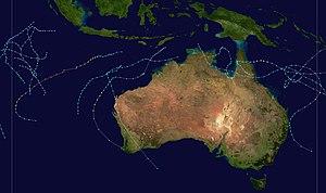 1989–90 Australian region cyclone season - Image: 1989 1990 Australian cyclone season summary