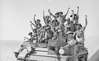 2/7th Battalion (Australia) - Members of the 2/7th Battalion with a Bren carrier in October 1940