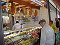 20-11-2009, Cheese and cold meat stall, municipal market, Olhão.JPG