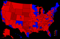 2000 Presidential Election, Results by Congressional District.png