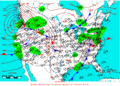 2005-01-08 Surface Weather Map NOAA.png