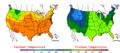 2007-05-29 Color Max-min Temperature Map NOAA.png