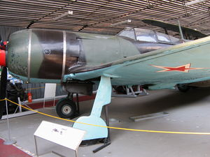 Lavochkin La-7 - A La-7 of the Czech Air Force on display at the Prague Aviation Museum, Kbely