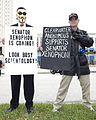 2009 December Operation Frogger 84 protest against Scientology 01.jpg
