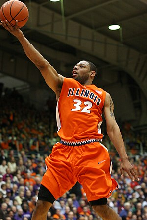 Finger roll - Demetri McCamey for the 2009–10 Illinois Fighting Illini