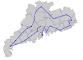 2010 Asian Games torch relay route.png