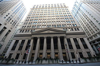Federal Reserve Bank of Chicago - The Federal Reserve Bank of Chicago's entrance is on LaSalle Street.