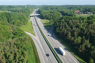 Bundesautobahn 7 - BAB 7 approaching Hamburg