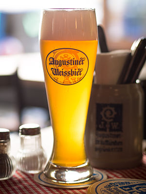 Wheat beer - Augustiner Weißbier, a naturally cloudy Bavarian wheat beer