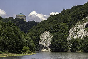 Lower Bavaria -  Befreiungshalle with River Danube
