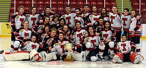 Truro Bearcats - A picture of the 2014 Truro Bearcats with the Kent Cup (click to expand).