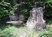 Olbernhau, Gedenkstein an den am 19. Januar 1848 hier geborenen Hermann Kretzschmar (Quelle: Wikimedia)