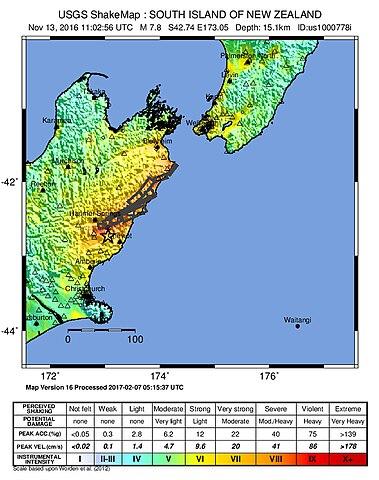 File:2016 Kaikoura Earthquake ShakeMap jpg - Wikimedia Commons