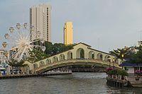 2016 Malakka, Most starego dworca autobusowego nad rzeką Malakka (03).jpg