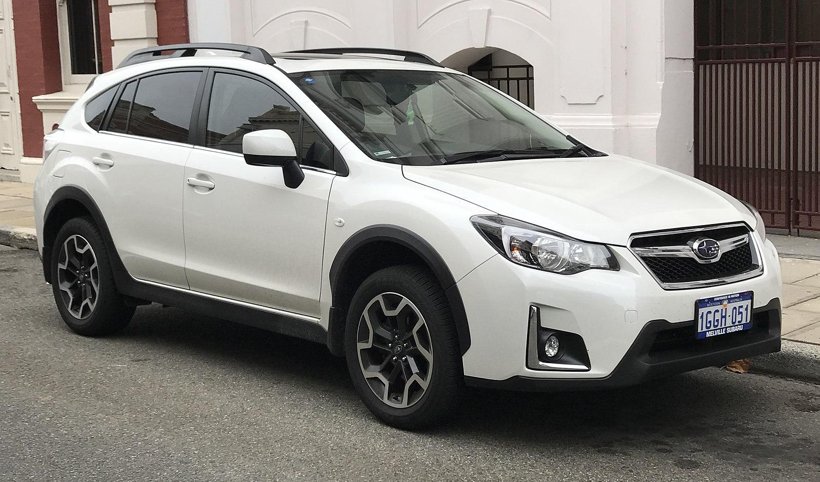 White Subaru Crosstrek