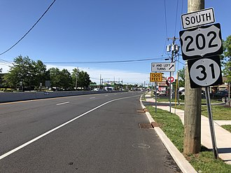 Flemington, New Jersey - US 202 and Route 31 in Flemington