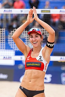 Melissa Humana-Paredes Canadian beach volleyball player
