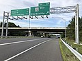 2019-08-19 17 23 01 View north along U.S. Route 29 (Columbia Pike) at Exit 16B (Maryland State Route 32 WEST, Clarksville) in Columbia, Howard County, Maryland.jpg