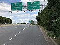 2019-09-17 15 08 32 View east along Virginia State Route 7 (Leesburg Pike) at the exit for Virginia State Route 244 WEST (Columbia Pike, Annandale) in Bailey's Crossroads, Fairfax County, Virginia.jpg