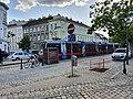 2019-09-19 (101) Wiener Stadtwanderweg 1 - Tram line D ULF B1 at Zahnradbahnstraße, Vienna, Austria.jpg