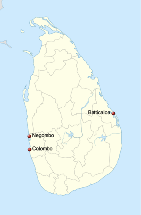 2019 Sri Lanka Bombings map.png