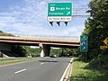 2020-07-30 10 01 13 View west along Maryland State Route 43 (White Marsh Boulevard) at the exit for U.S. Route 1 SOUTH (Belair Road, Fullerton) in Overlea, Baltimore County, Maryland.jpg
