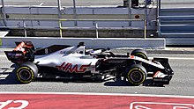 2020 Formula One tests Barcelona, Haas VF-20, Grosjean.jpg