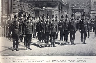Post Office Rifles - Ambulance detachment, 24th Middlesex Rifle Volunteers (Post Office), 1897
