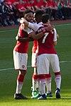 25 Merci Arsène - Celebrating Aubameyang's goal (28084398318).jpg