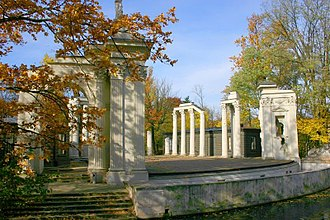 Enlightenment in Poland - Roman theater on the Isle (1790-1793), a companion to the Palace on the Water.