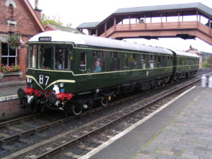British Rail Class 104 - Preserved 2-car Class 104, unit nos. 50517 and 50455, at Bewdley on the Severn Valley Railway in 2004
