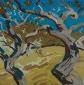 """5 """"Vieux oliviers à Lourmarin"""", huile sur toile de Boris Khomenko, 2007, 60x60.tif"""